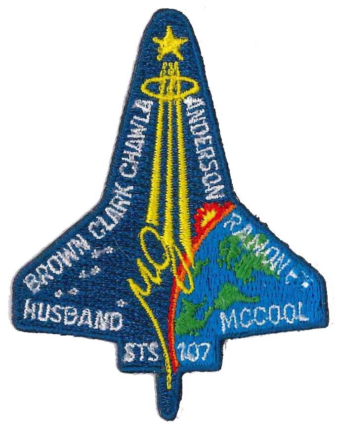 Mission patch Space Shuttle Columbia NASA STS-107