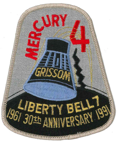 Patch NASA Mercury 4 GRISSOM Liberty Bell 7 - 30th Anniversary- 3.75 x 4.5""