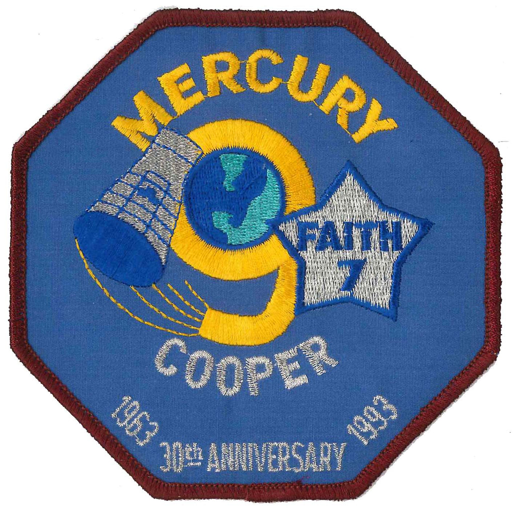 Patch Mercury 9 collectible anniversary NASA