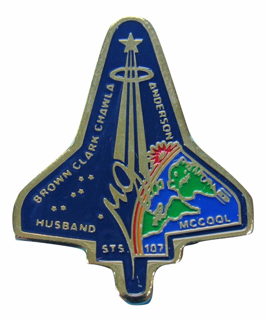 Mission pin Space Shuttle Columbia STS-107