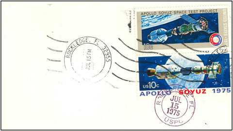 NASA postal cover Apollo Soyuz