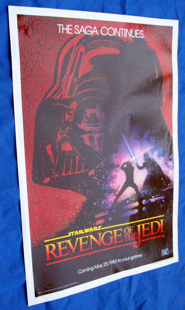 Revenge of the Jedi one sheet movie poster #1, Lucasfilm Employee collection Star Wars