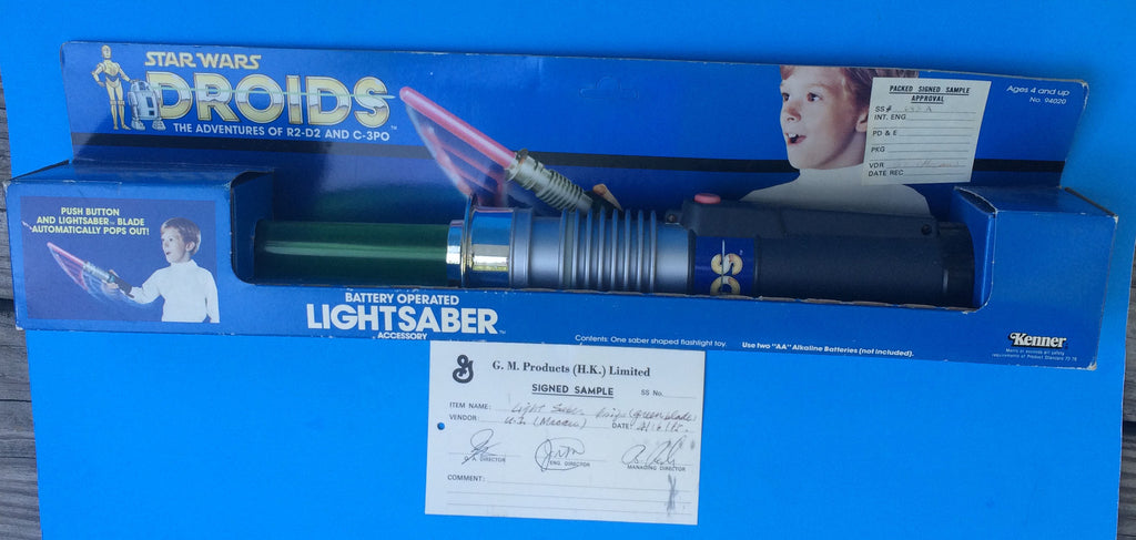Quality Control Prototype DROIDS Lightsaber 1985 Kenner - Star Wars