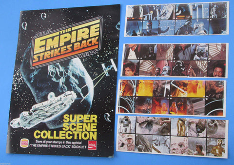 Burger King Super Scenes sticker album & stickers TRIO - 1981 vintage Star Wars