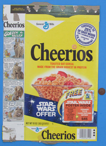 Cereal Box 10 oz Cheerios '78 General Mills & Kenner Toys Promotion #1