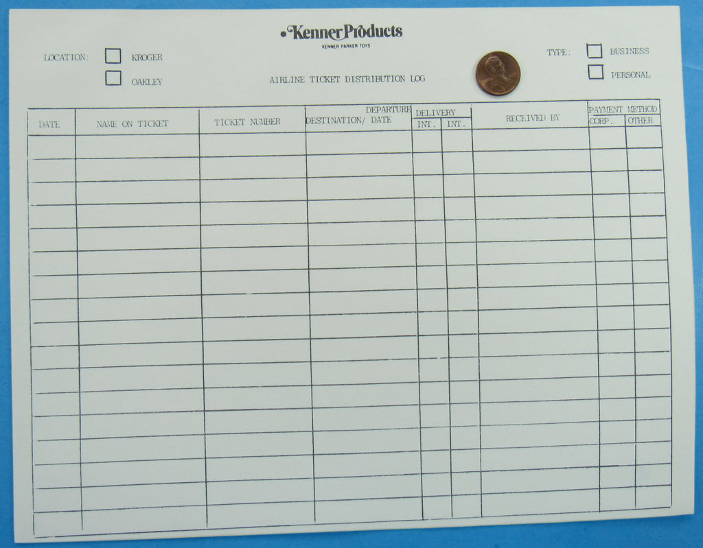 Kenner Employee Paperwork