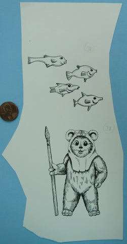 Happy House Artwork - Ewok Spear Fish