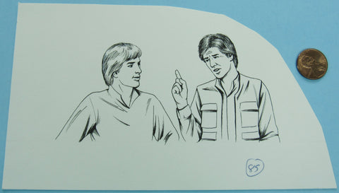 Star Wars Happy House Artwork - Luke Skywalker Han Solo