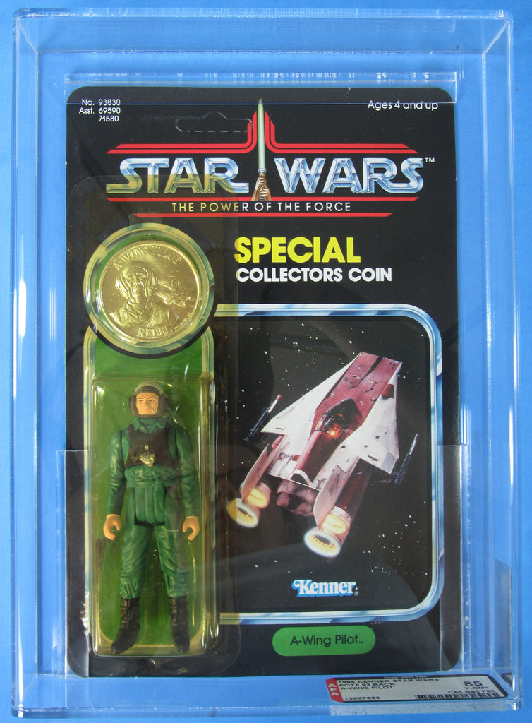 Vintage Kenner A-Wing Pilot Power of the Force Star Wars AFA 85