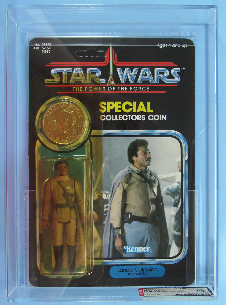 Star Wars vintage Kenner action figure MOC AFA 80 Lando General Pilot POTF