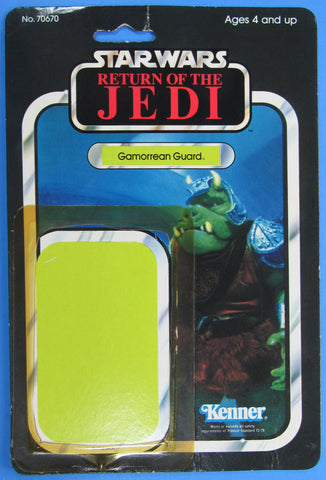 Gamorrean Guard card back only - 2ROTJ-65A with Tsukuda Japanese sticker - Kellerman Star Wars Kenner Collection