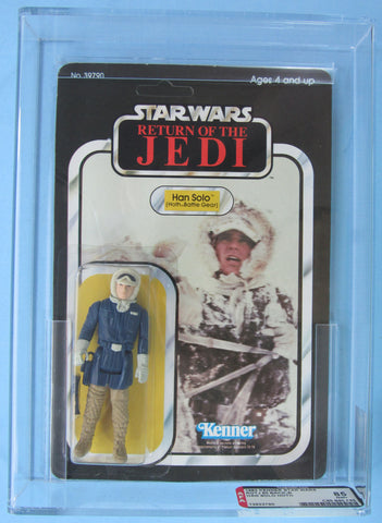 Han Solo (Hoth Battle Gear) 2ROTJ-65B - MOC AFA 85 - Kellerman Star Wars Kenner Collection