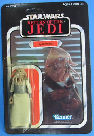 Squid Head - ROTJ with Tsukuda Japanese sticker - MOC - Kellerman Star Wars Kenner Collection