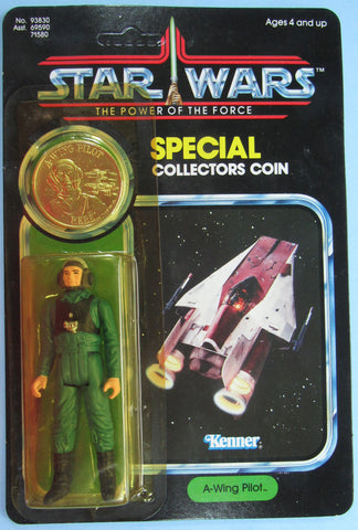 Star Wars vintage Kenner action figure MOC - A-Wing Pilot - Power of the Force