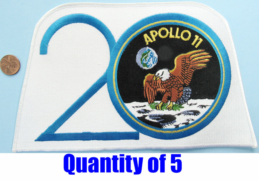 Apollo 11 20th Anniversary Patch Large Jacket Back