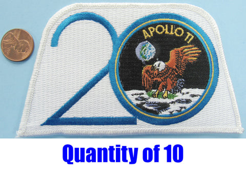 Apollo 11 patch 20th Anniversary NASA small