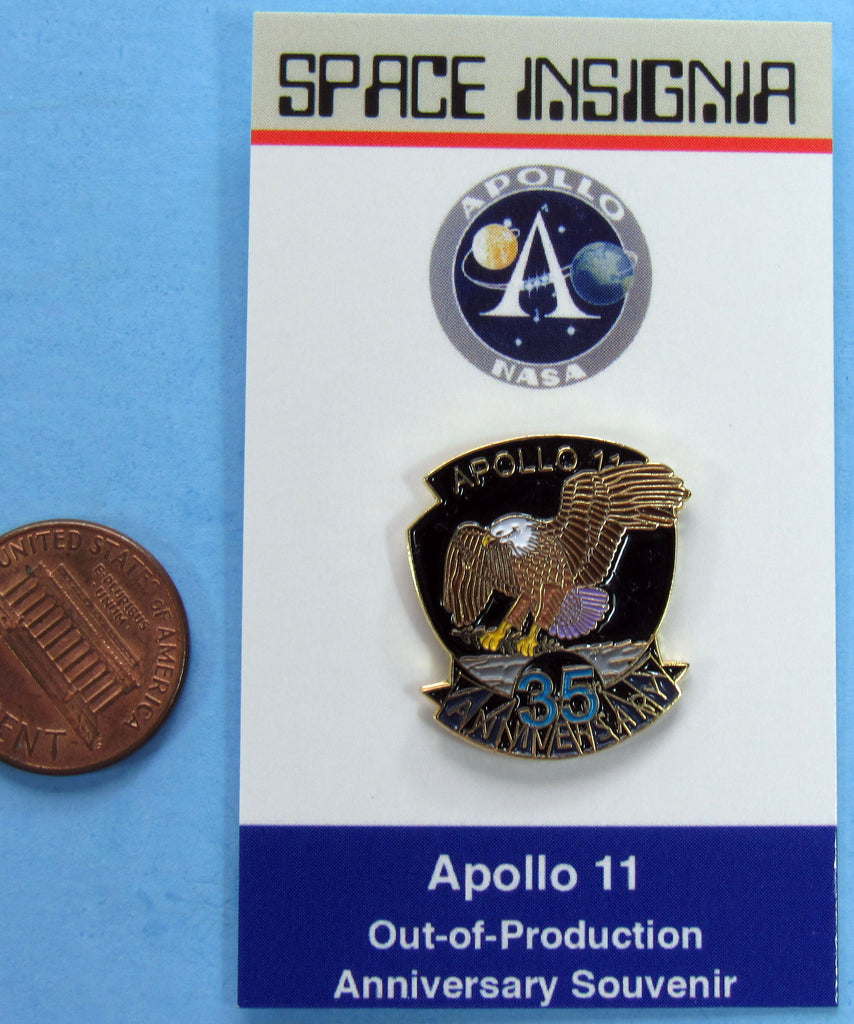 Apollo XI 11 NASA Enamel Pin 35th Anniversary