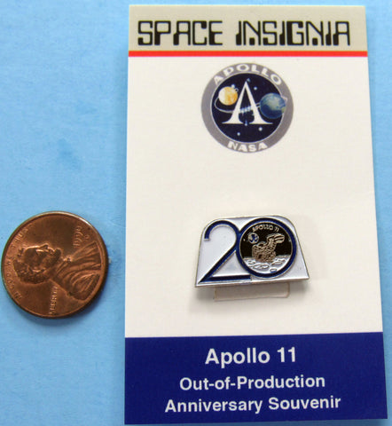 Apollo XI 11 NASA Enamel Pin 20th Anniversary