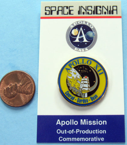 Apollo XII NASA AB Emblem Pin
