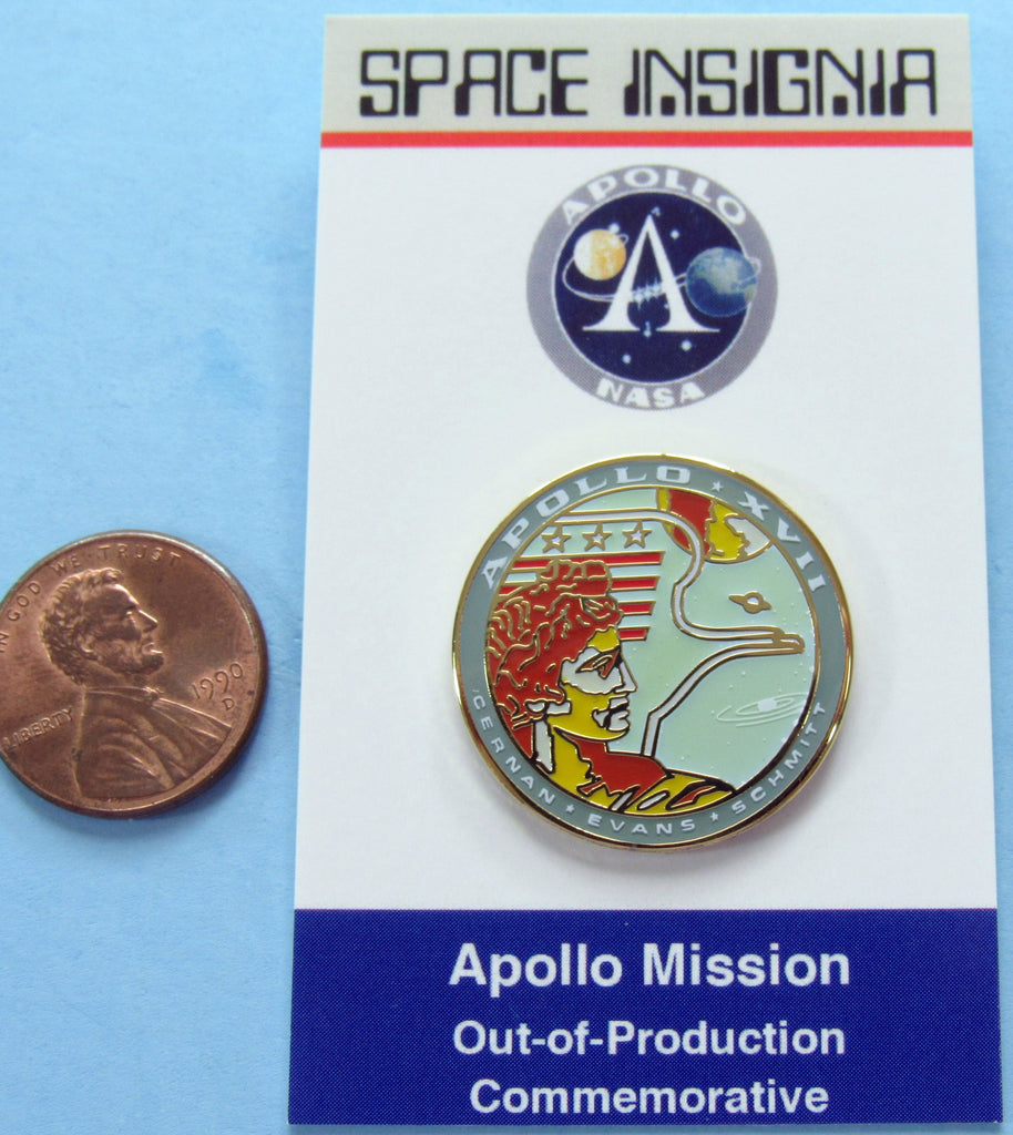 Apollo XVII NASA AB Emblem mission Pin