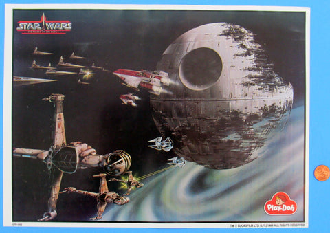PLAY MAT - UNUSED - '84 Star Wars Death Star Play Doh Set