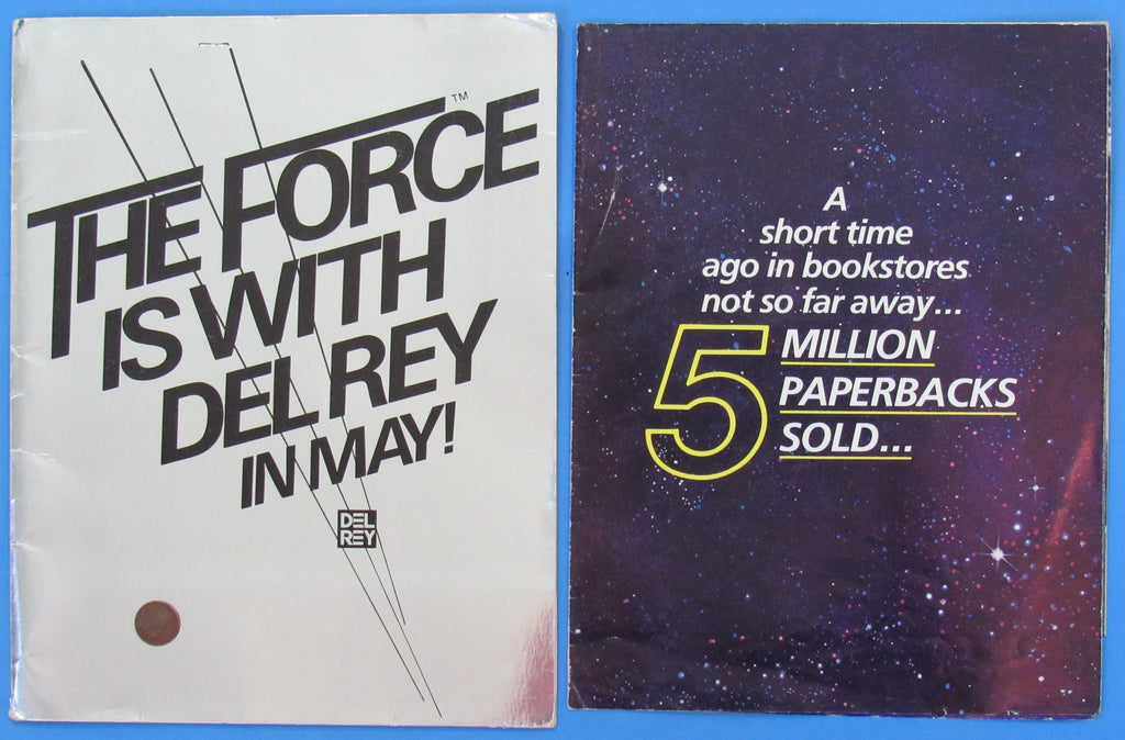 PROMOTIONAL Poster & Folder - Del Rey Paperback Store Display '80 vintage Star Wars