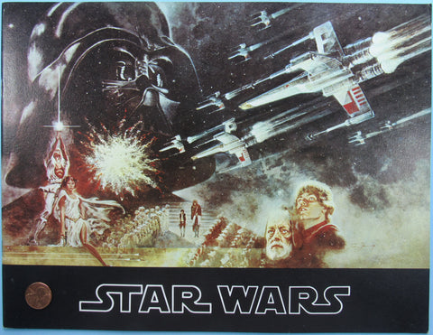 THEATER PROGRAM '77 vtg STAR WARS 2nd printing pebble finish cover VARIANT