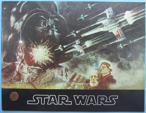 THEATER PROGRAM '77 vtg STAR WARS 3rd printing textured cover VARIANT