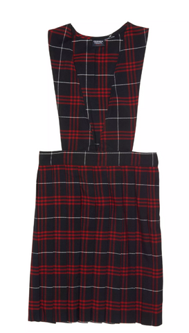 Jumper | FT Girls Plaid V-Neck Pleated Jumper