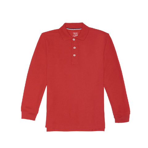 Polo Shirt L/S | FT Red, Unisex Youth