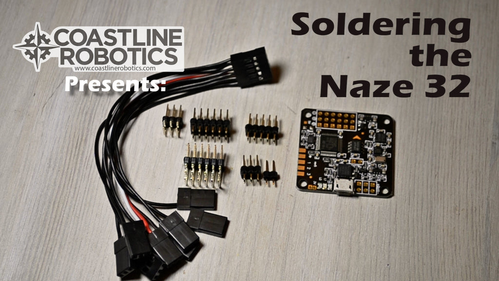 How to solder a Naze 32 FPV racing drone flight controller.