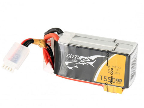 Tattu 1550mAh 45C 3S1P Lipo Battery Pack