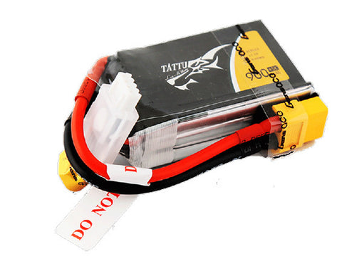 Tattu 900mAh 11.1V 45C 3S1P Lipo Battery Pack