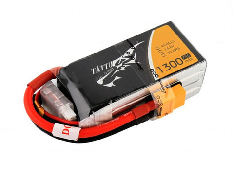 Tattu 1300mAh 75C 4S1P lipo battery pack