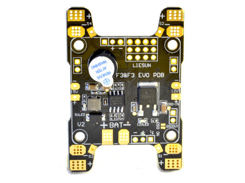 Power Distribution Board for F3/F4 flight controllers | 5v /12V filters. | H shape