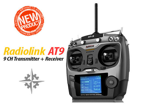 RadioLink AT9 2.4GHz 9CH Transmitter + R9D 9CH Receiver Mode 2. Telemetry Radio