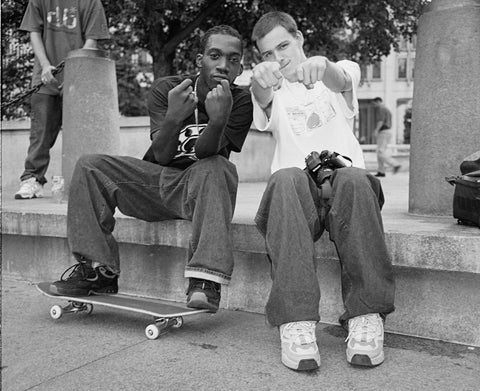 Stevie Williams and Josh Kalis skateboarding together