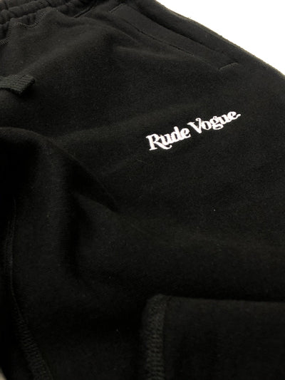 RUDE VOGUE FRENCH TERRY JOGGER SWEATPANT - BLACK Hoodie RudeVogue