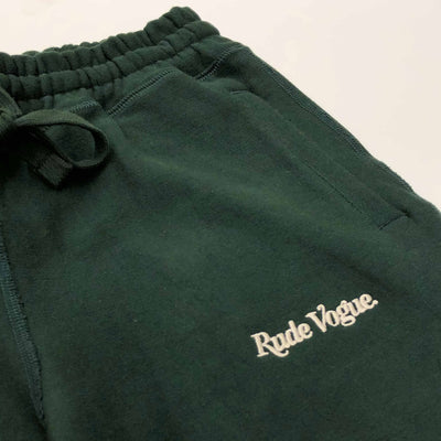 RUDE VOGUE FRENCH TERRY JOGGER SWEATPANT - FOREST/CREAM Hoodie RudeVogue