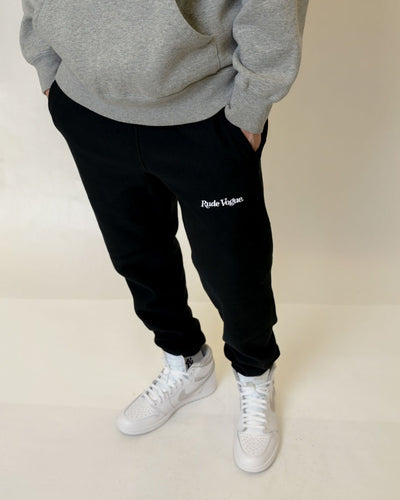 RUDE VOGUE JOGGER SWEATPANT - BLACK Hoodie RudeVogue