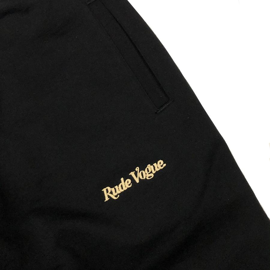 RUDE VOGUE SWEATPANT - BLACK/GOLD Hoodie RudeVogue