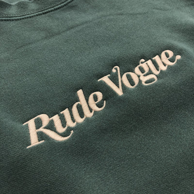 RUDE VOGUE SWEATSHIRT- WASHED TEAL Hoodie RudeVogue