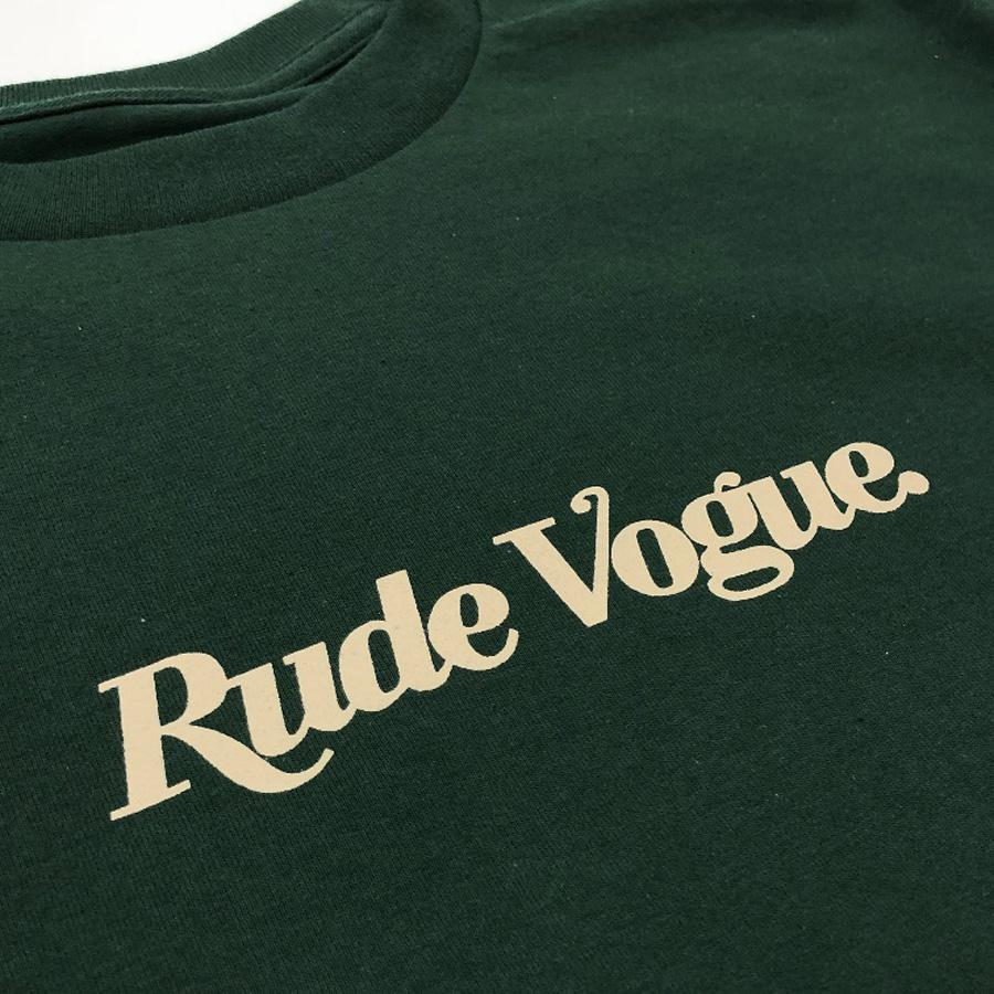 RUDE VOGUE T-SHIRT - FOREST GREEN T Shirts Rude Vogue