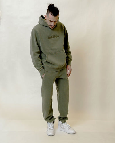 RUDE VOGUE TONAL SWEATPANT - WASHED OLIVE Hoodie RudeVogue