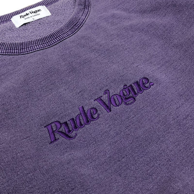 RUDE VOGUE TONAL SWEATSHIRT - WASHED GRAPE Hoodie RudeVogue