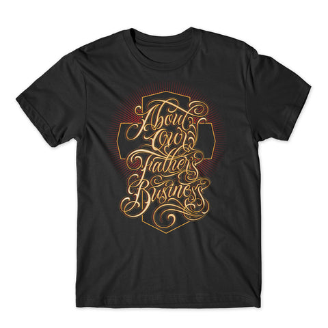 """About Our Father's Business"" - Christian Apparel"