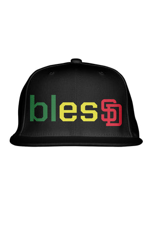 Green/Yellow/Red blesSD Premium Snapback