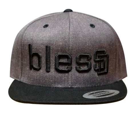 Dark Heather blesSD Hat with Black Bill