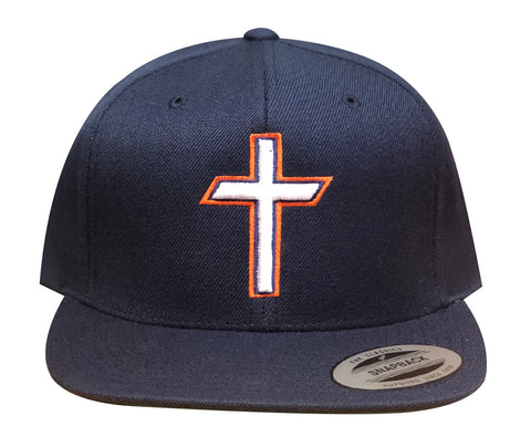 "Navy ""Cross"" Premium SnapBack"