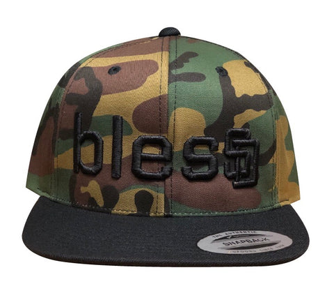 Camo blesSD Hat with Black Bill